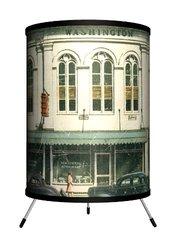 Lamp-In-A-Box Travel - Charles Washington Hall Postcard Tripod Lamp