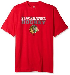 NHL Men's Short Sleeve 'Chicago Blackhawks' Screen Print T-Shirt - Red/3X