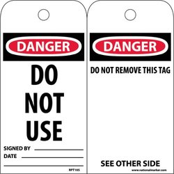 "NMC RPT105 Accident Prevention Tag w/Legend ""Do Not Use"" - Pack of 25"