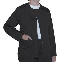 myGuardian w/ Vestex Protection Unisex Warm Up Scrub Jacket - Black - 5XL