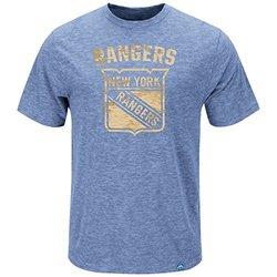 NHL New York Rangers Men's Fashion Tops - Hyper Blue - Size: Small