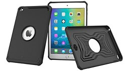 iPad Mini 4 Case Bundle, roocase [Exec Tough] Orb System iPad Mini 4 Slim Fit Drop Protection Cover Case with Detachable Orb Strap Car Mount for Apple iPad Mini 4 (2015), Granite Black