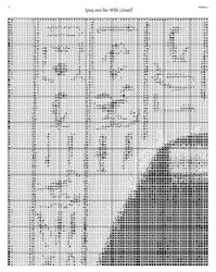Scarlet Quince UNK004-L Ipuy and His Wife (detail) Counted Cross Stitch Chart, Regular Size Symbols