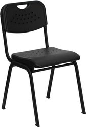 Flash Furniture Hercules Series 880-Pound Stack Chair - Black