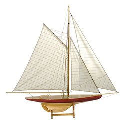 Authentic Models Sail Model Defender 1985 - Classic Pond Yacht Replica