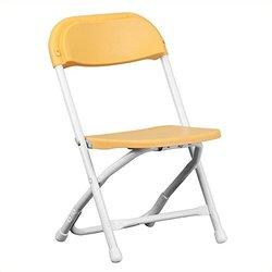Kids Yellow Plastic Folding Chair