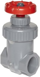 "Spears CPVC Gate Valve, Non-Rising Stem, Viton O-Ring, 2"" Socket"