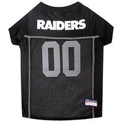 NFL AFC Pet Mesh Jerseys: Oakland Raiders/Large