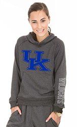 NCAA Kentucky Wildcats Buttersoft Tri-Blend Hoodie, Medium, Tri-Onyx