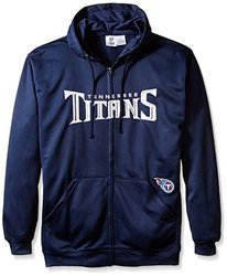 NFL Tennessee Titans Men's Full Zip Poly HD Sweatshirt, 5X, Navy