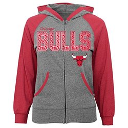 NBA Chicago Bulls Hot Dribbler Full Zip Hood, Youth Large