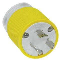 Woodhead 26T47YL Safeway Plug Industrial Duty 125V Voltage - Yellow