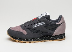 Reebok Classic Men's Leather Sneakers - Coal/Mindset/Black - Size: 9.5 970026