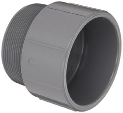 "Spears 836-C Adapter, Schedule 80 1/2"" Socket x NPT Male CPVC Pipe Fitting"