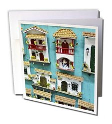 "3dRose 6""x6"" Typical hand crafts from Cartagena Greeting Cards - Set of 6"