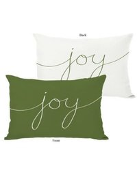 One Bella Casa Holiday Joy Mix and Match Polyester Throw Pillow - Green