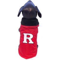 All Star Dogs NCAA Rutgers Scarlet Knights Dog Outerwear - Red - Size: S