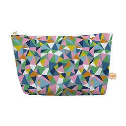 "Kess InHouse Everything Bag, Tapered Pouch, Project M ""Abstraction Pink"" Rainbow Abstract, 8.5 x 4 Inches (PM1025BEP03)"