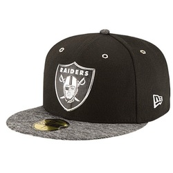 New Era Men's NFL 59Fifty on Stage Cap - Oakland Raiders - Black