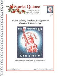 Scarlet Quince 8 Cent Liberty Cross Stitch Chart - Size: Large