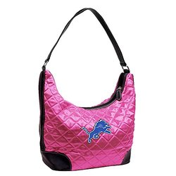 Little Earth Women's NFL Detroit Lions Quilted Hobo Bag - Pink