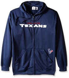 NFL Men's 'Houston Texans' Full Zip Poly HD Sweatshirt - Navy - Size: 3X