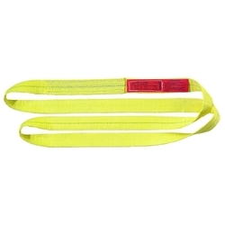 "Liftall Polyester Web Sling Twisted Eye 2 Ply - Yellow - Size: 18"" x 6"""