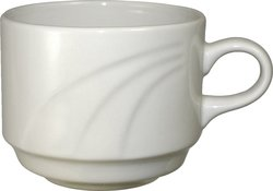 ITI 36-Piece 8.5oz York Embossed Stackable Cups - American White
