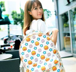 B'duck Fashionable Star Pattern Backpack - White