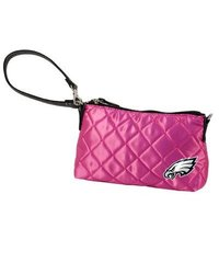 NFL Philadelphia Eagles Pink Quilted Wristlet