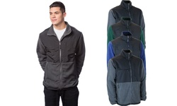 Sierra Pacific Men's Polar Fleece Jacket - Multi - Size: Large