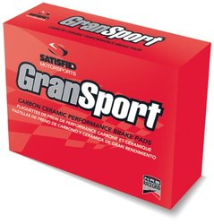 Satisfied Brakes  GranSport Carbon Ceramic Disc Brake Pads (GS6-D460)