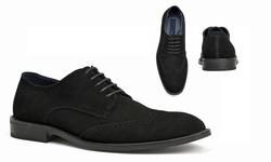 Joseph Abboud Men's Ralph Wing Tip Suede Oxfords - Black - Size: 8