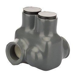 """Polaris Grey Insulated Connector for Fine-Stranded Flexible Copper Conductor, 1-10 AWG and 2-10 AWG Wire Range, 2 Ports, 3/16"""" Hex, 1.75"""" Width, 1.75"""" Height, 1.62"""" Length"""