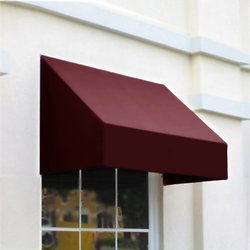 "Awntech Window/Entry Awning - Burgundy - 5' 4 -1/2""W x 4'D x 3' 8""H"