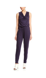 Green Envelopet Women's Sleeveless Drape Back Jumpsuit - Navy - Size: M