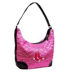 Women's MLB Boston Red Sox Quilted Hobo Bag - Pink