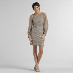 Scarlett Women's Lace Dress - Taupe - Size: 12