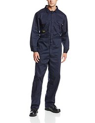 Utility Pro UPFR101 Flame-Resistant 7 oz Cotton/Nylon Coverall with Left Sleeve Tool Pocket, X-Large, Navy