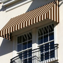 """Awntech 5 Ft New Yorker Window/Entry Awning - Brown/Tan - Size: 44"""" x 24"""""""