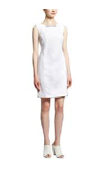 Carmen Marc Valvo Sleeveless Dress with Panels - White - Size: 10
