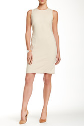 Paperwhite Collection Sleeveless Seamed Dress - Khaki - Size: 8