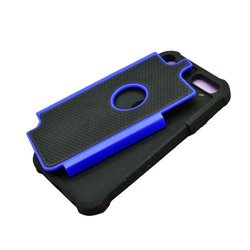 Eagle Cell Armor Silicone & Hard Cover for iPod Touch 5 - Black/Blue