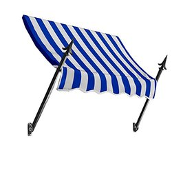 """Awntech 3Ft New Orleans Awning - Blue/White - Size: 44"""" x 24"""""""