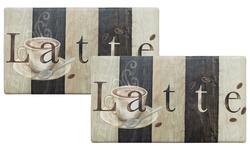 """Cook N Comfort Anti-fatigue Memory Foam Mat - Latte Sign - Size: 20""""x35"""""""