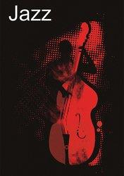 JP London Peel & Stick Bass Music Bar Basement Accent Wall Mural - Red