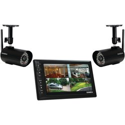 "Uniden UDS655 7"" Video Surveillance Monitor w/ 2 Outdoor Cameras"