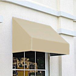 """Awntech CN43-4L, Window/Entry Awning 4' 4-1/2""""W x 3'D x 4' 8""""H Linen"""