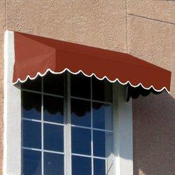 Awntech 7-Feet San Francisco Window/Entry Awning, 16-Inch Height by 30-Inch Diameter, Terra Cotta