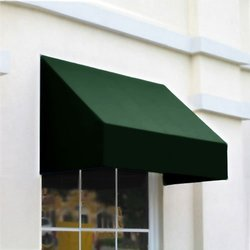 "Awntech 3 Ft New Yorker Window/Entry Awning - Forest - Size: 56"" x 36"""